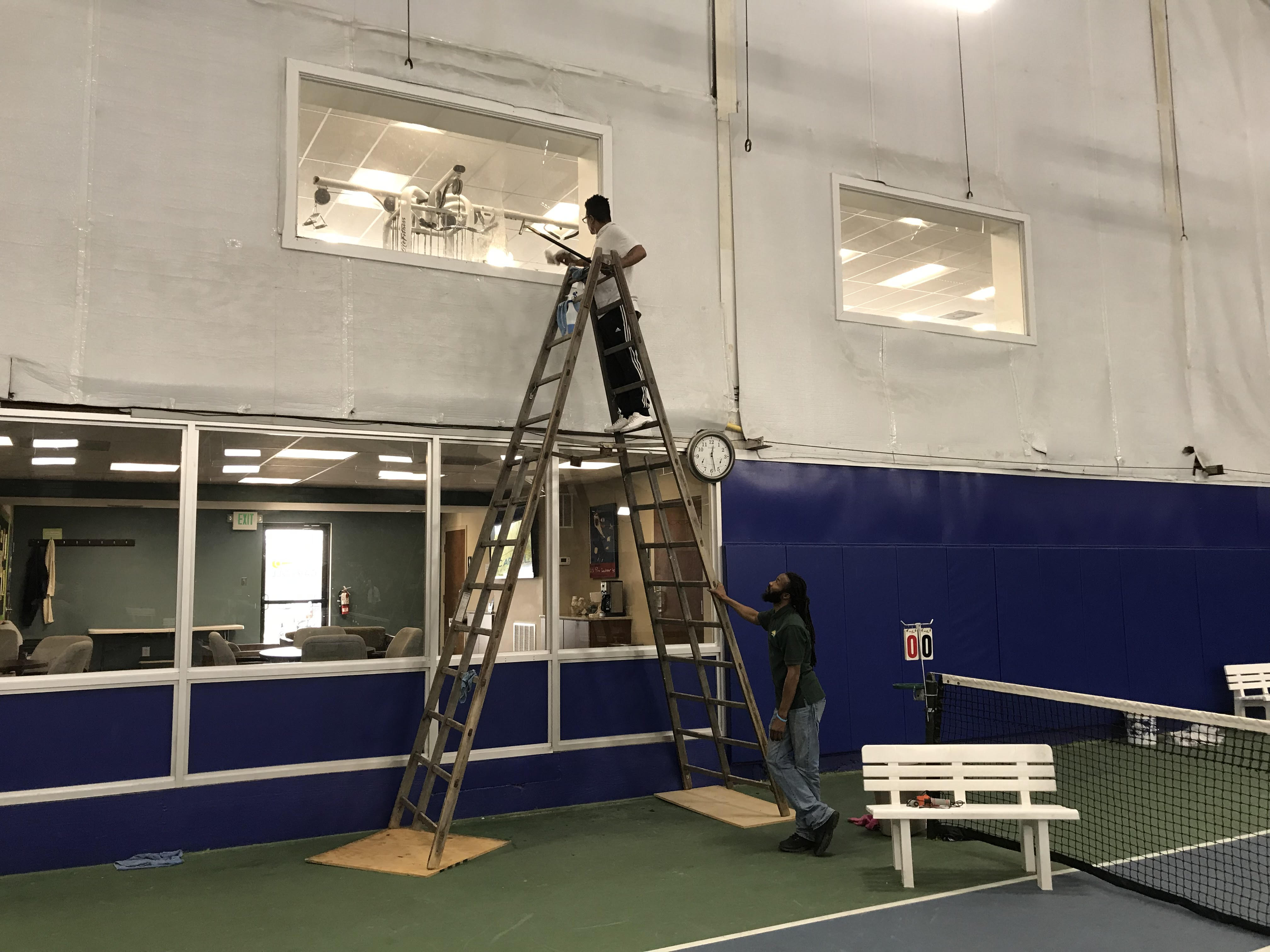 Carroll Tennis Center has their Windows and Carpet Cleaned by Summit