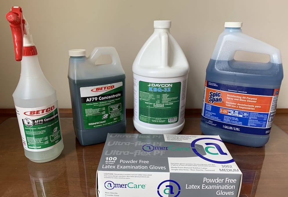 Commercial Grade disinfectants